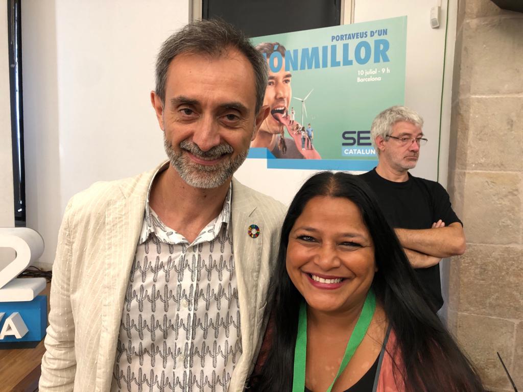 Josep Maria Canyelles i Asha Miró al CCCB
